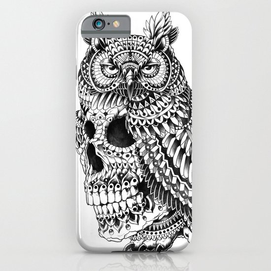 Great Horned Skull iPhone & iPod Case
