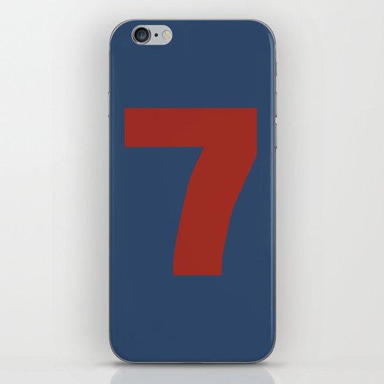 Number 7 iPhone & iPod Skin