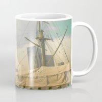 Vintage Old Ship Mug