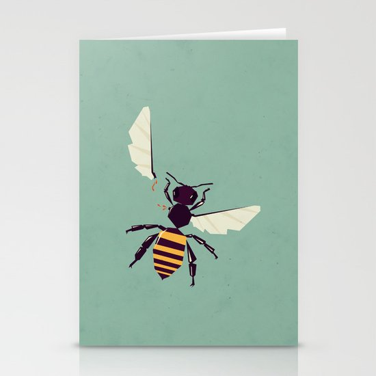 H is for honey bee  Stationery Card