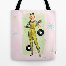 Fun With Records And Redheads Tote Bag