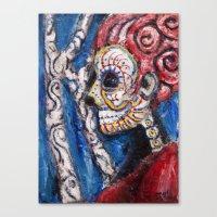 skull nymph Canvas Print