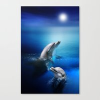 Dolphin Delight Canvas Print