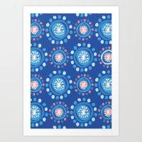 Bubbly Pattern Art Print