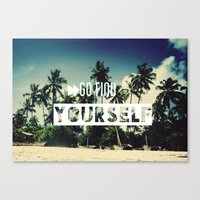 Go Find Yourself Canvas Print