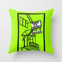 Sam's Pit Late Nite Bar B Que, Spokane, WA Throw Pillow