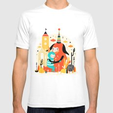 Woombi & Loondy Mens Fitted Tee White SMALL