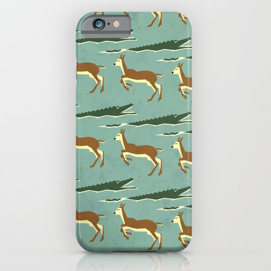 Jumping logs pattern iPhone & iPod Case