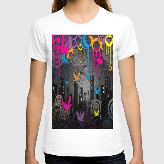 Vector City Grunge. T-shirt