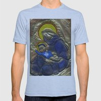 Jesus Was A Yankee's Fan Mens Fitted Tee Athletic Blue SMALL