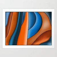 Lines Of Stained Glass Art Print