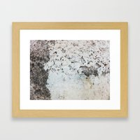 Peeling white wall Framed Art Print