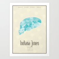 Indiana Jones And the Kingdom Of the Crystal Skull - minimal poster Art Print