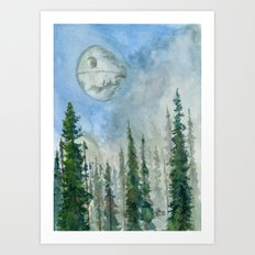 The Endor Morning Sky Art Print