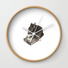 DJ Squirrel Wall Clock