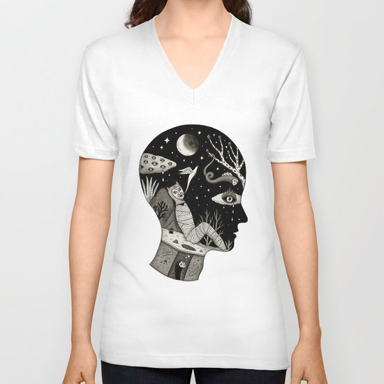 Distorted Recollection of a Dream About Death V-neck T-shirt