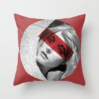 Red Band Throw Pillow