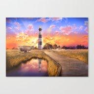 Lighthouse Landscape Sky Canvas Print