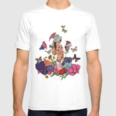 Color Splash SMALL Mens Fitted Tee White
