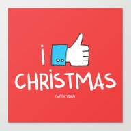 I Like Christmas (with Y… Canvas Print