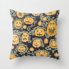 Pumpkin Party Throw Pillow
