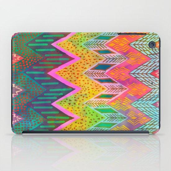 Tribal Chevron - Yellow iPad Case