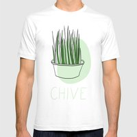 Chive Mens Fitted Tee White SMALL