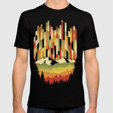Sunset in Vertical SMALL Black Mens Fitted Tee