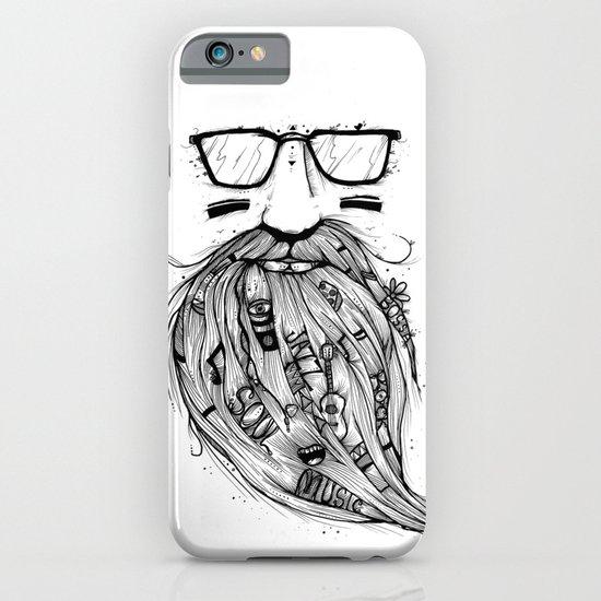 Beard Me Some Music (Black & White) iPhone & iPod Case