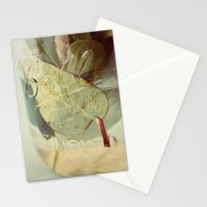 leaves underwater Stationery Cards