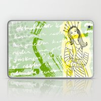 Unhappy Girl Laptop & iPad Skin