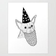 Dog Wizard Art Print