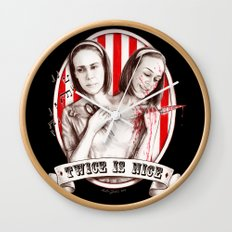 Tattler Twins (edited) Wall Clock