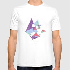 Kite-netic #1 Mens Fitted Tee SMALL White