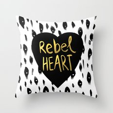 Rebel Heart Throw Pillow