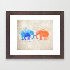 love elephants Framed Art Print