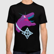 T-Rex Burst SMALL Mens Fitted Tee Black