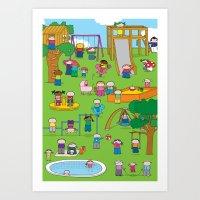 Playground  XL Art Print