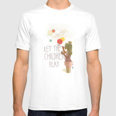 Let the children play Mens Fitted Tee White SMALL