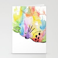 rainbow Stationery Cards featuring My Rainbow Totoro by scoobtoobins