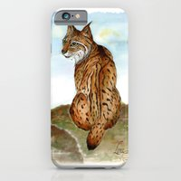iPhone & iPod Case featuring Iberian Lynx Watercolor by  MaiCat