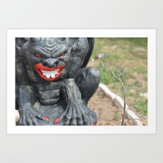 oh my what big lips you have Art Print