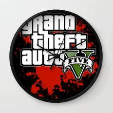 grand theft auto 5 Wall Clock