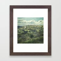 Let's Go Over There. Framed Art Print