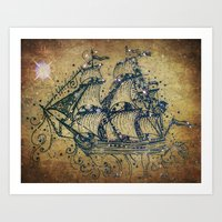 The Great Sky Ship Art Print