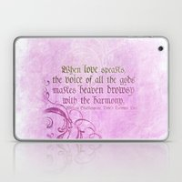 When Love Speaks - Shake… Laptop & iPad Skin
