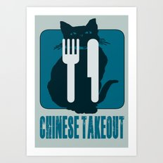 chinese takeout Art Print