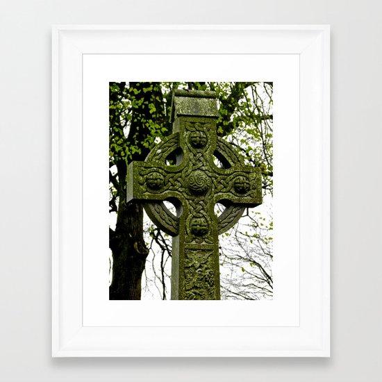 Celtic Cross at Monasterboice Framed Art Print