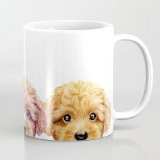Toy poodle friends mix, original painting print by miart Mug