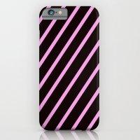 Pink & Black Stripes iPhone 6 Slim Case